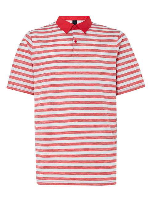 Oakley Aero Striped Polo - High Risk Red