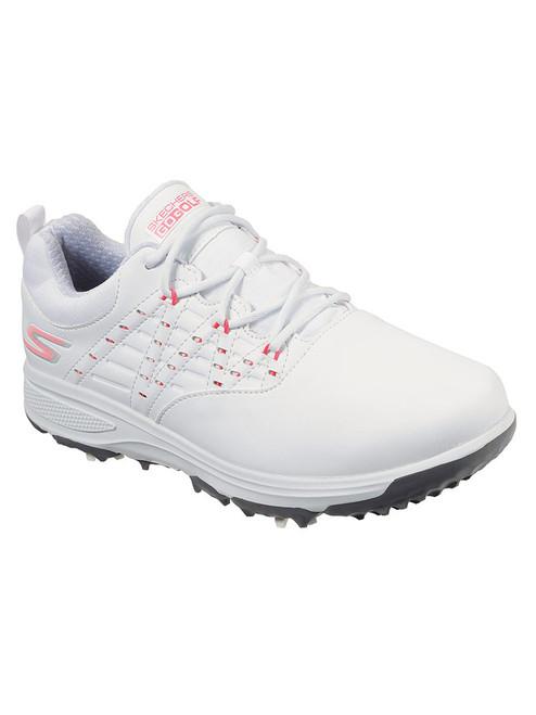 Skechers W Go Golf Pro V2 Golf Shoes - White/Pink
