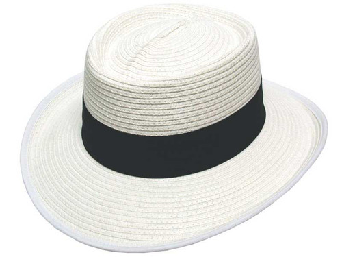 Avenel Bowls Hat With Greenunder - White/Navy