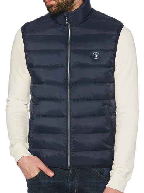 Original Penguin Lightweight Filled Puffer Vest - Dark Sapphire
