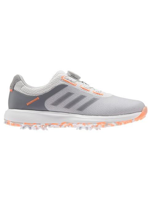 adidas W S2G Spiked BOA Golf Shoes - Grey Two/Grey Three/Scream Orange