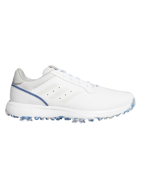 adidas S2G Spiked Golf Shoes - FTWR White/Grey One/Crew Blue