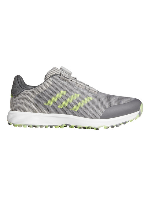 adidas S2G Spikeless BOA Golf Shoes - Grey Two/Solar Yellow/Grey Five