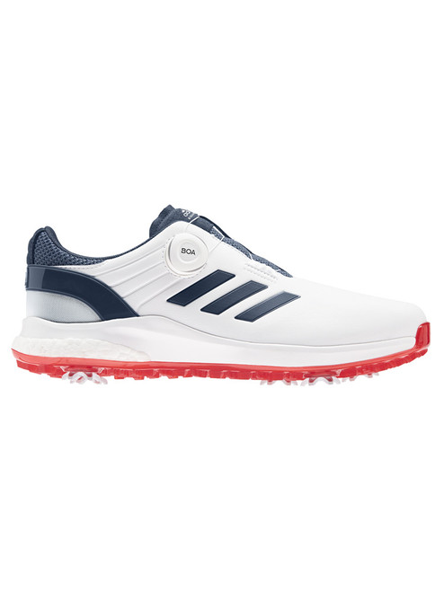 adidas EQT Spiked BOA Golf Shoes - FTWR White/Crew Navy/Scarlet