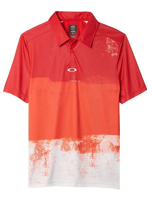 Oakley Colour Block Shade Polo - High Risk Red