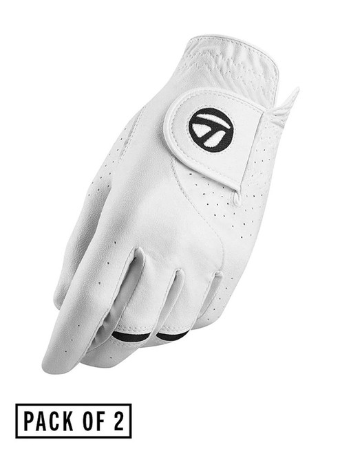 TaylorMade Stratus Tech Golf Glove - 2 Pack White