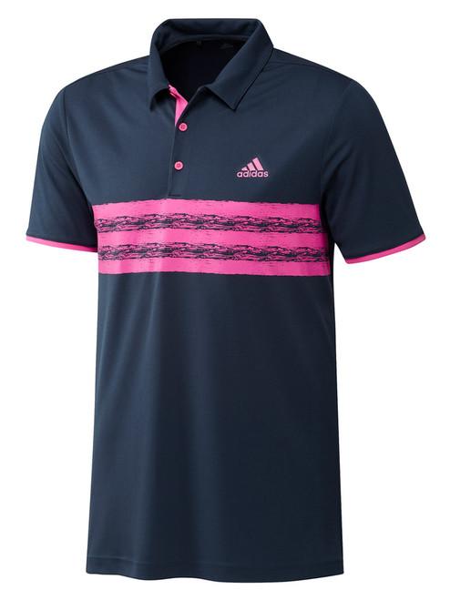 adidas Core Polo Shirt - Crew Navy/Screaming Pink