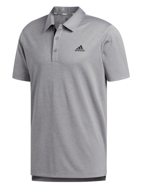 adidas Advantage Novelty Heathered Polo Shirt - Grey Three