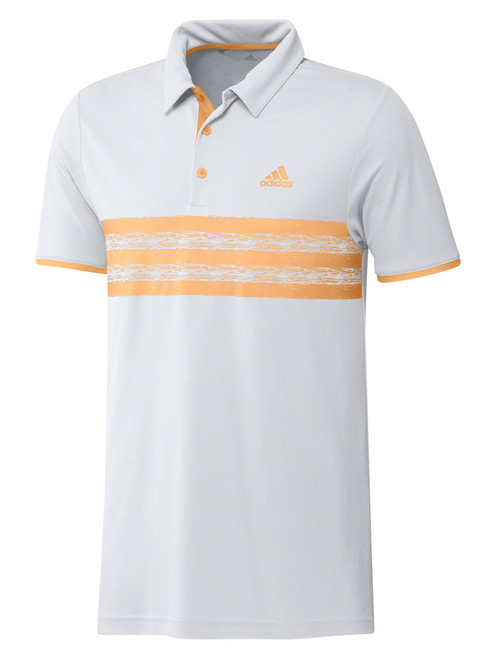 adidas Core Polo Shirt - White/Acid Orange