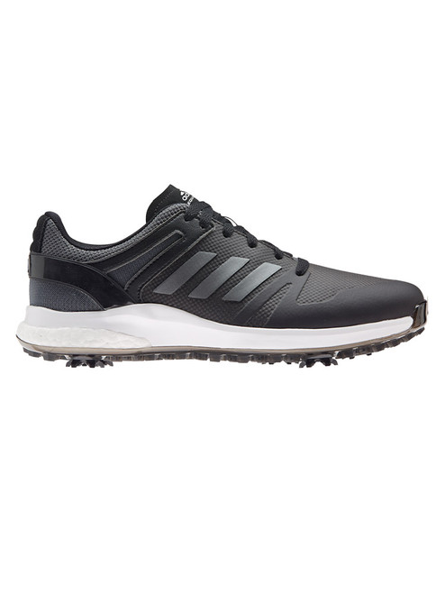 adidas EQT Spiked Golf Shoes - Core Black/Dark Silver Metallic/Grey Six