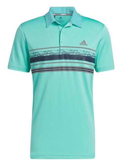 adidas Novelty Core Stripe Polo Shirt - Acid Mint
