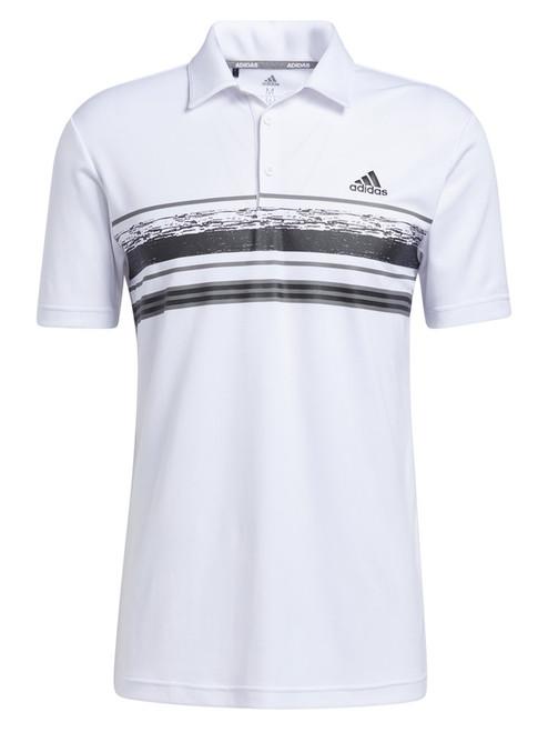 adidas Novelty Core Stripe Polo Shirt - White/Black