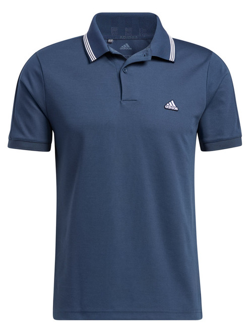 adidas Go-To Primegreen Pique Polo Shirt - Crew Navy/White