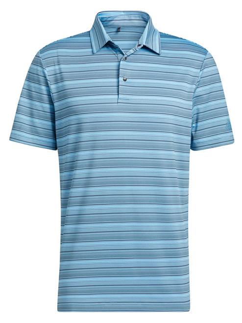 adidas Heather Snap Polo Shirt - Black/Hazy Blue