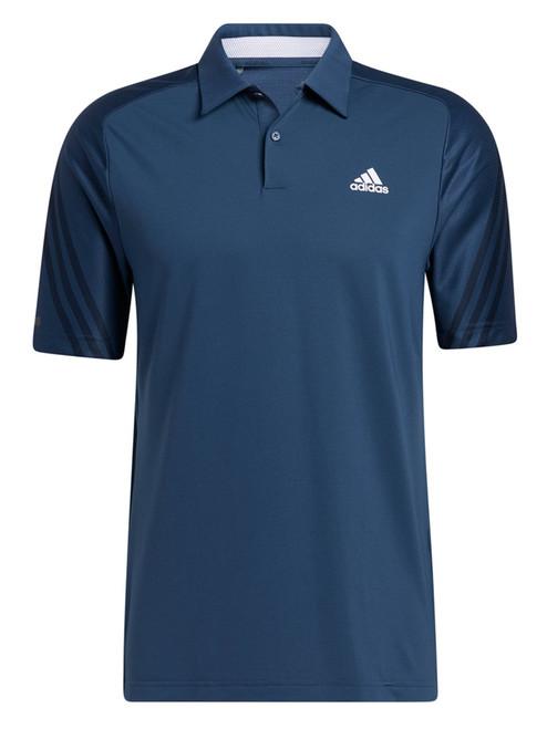 adidas HEAT.RDY 3-Stripes Polo Shirt - Crew Navy