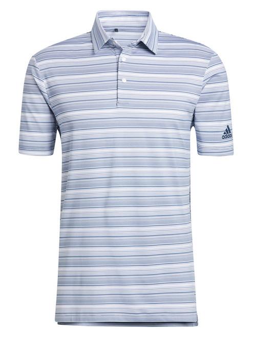 adidas Heather Snap Polo Shirt - Crew Navy/White