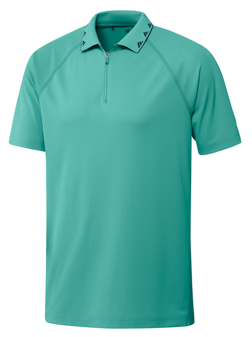 adidas Equipment Zip Piqué Polo Shirt - Acid Mint