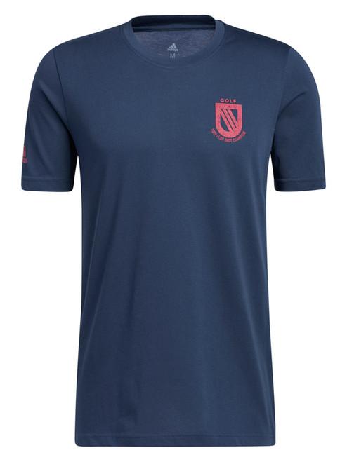 adidas Championship Tee - Crew Navy/Wild Pink