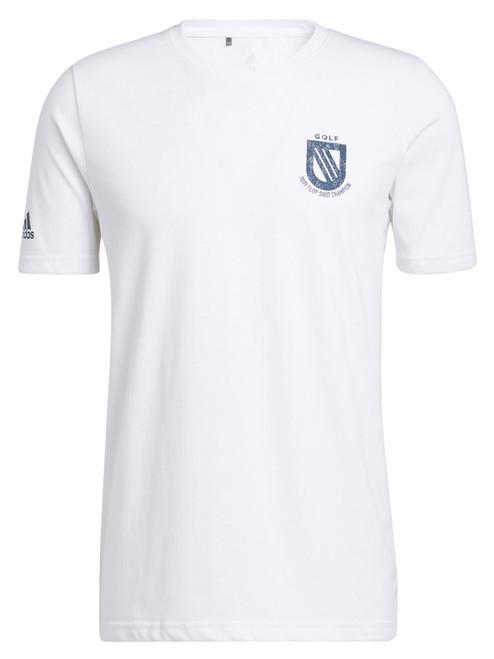 adidas Championship Tee - White/Crew Navy