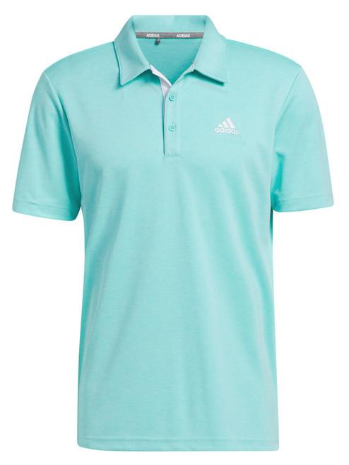 adidas Advantage Novelty Heathered Polo Shirt - Acid Mint