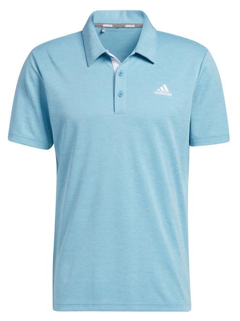 adidas Advantage Novelty Heathered Polo Shirt - Hazy Blue