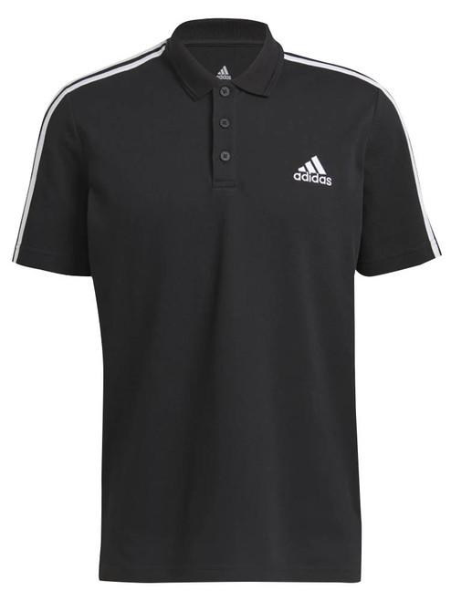 adidas AEROREADY Essentials Pique 3 Stripes Polo Shirt - Black/White