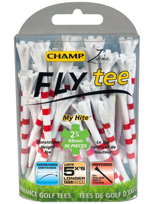 CHAMP FLYtee MyHite 30 Pack 2.75 Inches White/Red