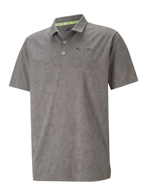Puma First Mile Flash Polo - Quiet Shade Heather