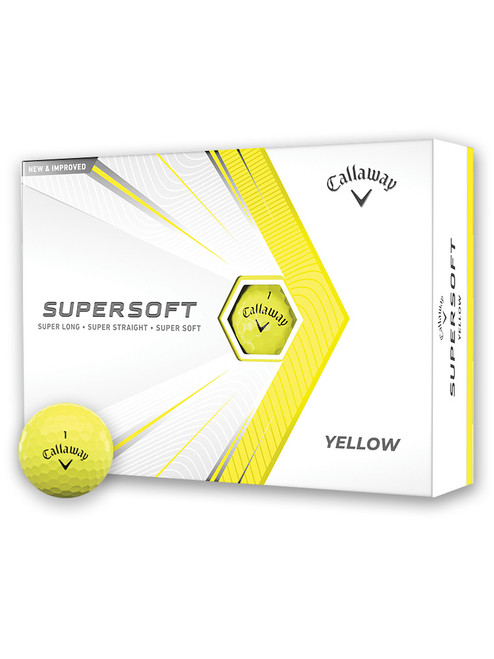 Callaway Supersoft 21 Golf Balls - 1 Dozen Yellow