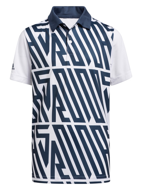 adidas JR Printed Polo Shirt - Crew Navy