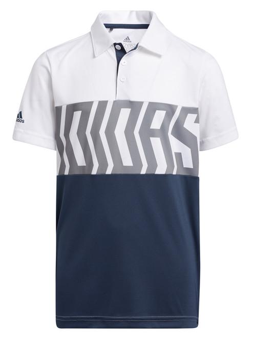 adidas JR Print Colorblock Polo Shirt - White