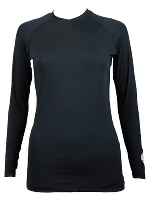 SParms Women's Body Round Neck Sun Protection - Black
