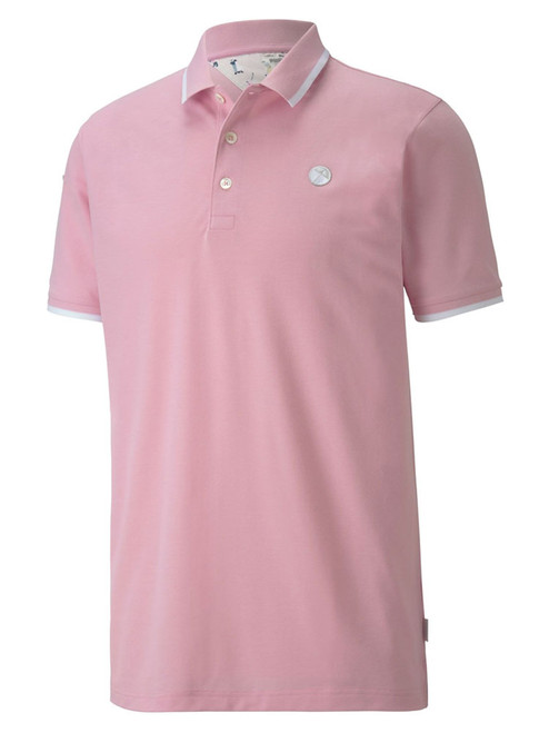 Puma AP Signature Tipped Polo - Pale Pink