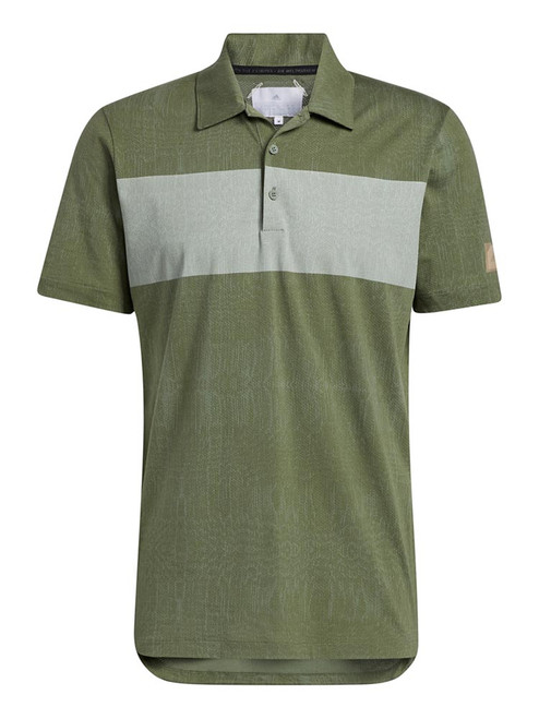 adidas Adicross Desert Print Polo Shirt - Natural Green