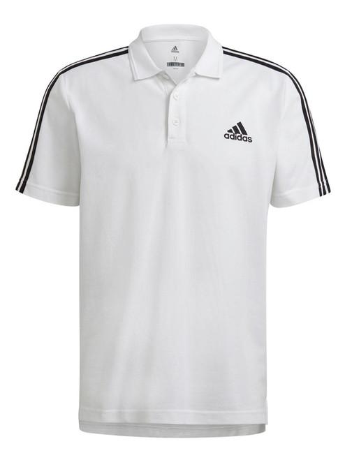 adidas AEROREADY Essentials Pique 3 Stripes Polo Shirt - White/Black