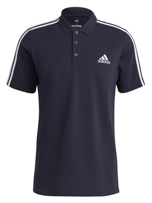 adidas AEROREADY Essentials Pique 3 Stripes Polo Shirt - Legend Ink/White