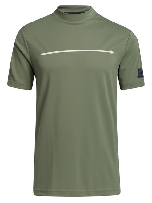 adidas Adicross Draw Fade Mock Tee - Natural Green