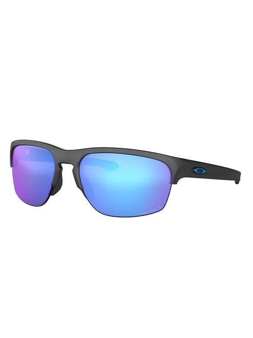 Oakley Sliver Edge (Asia Fit) Polarised Sunglasses - Steel w/ Prizm Sapphire