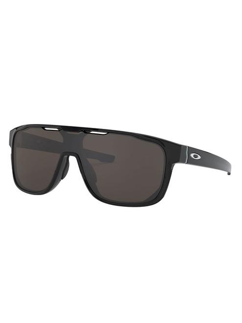 Oakley Crossrange Shield (Asia Fit) Sunglasses - Polished Black w/ Warm Grey