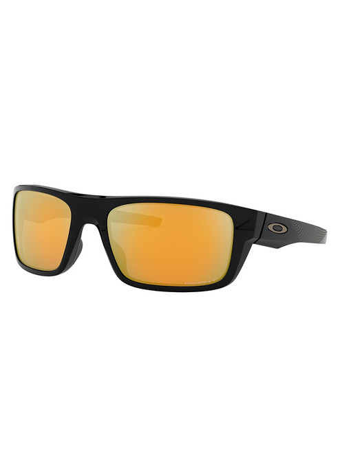Oakley Drop Point Polarised Sunglasses - Polished Black w/ Prizm 24K