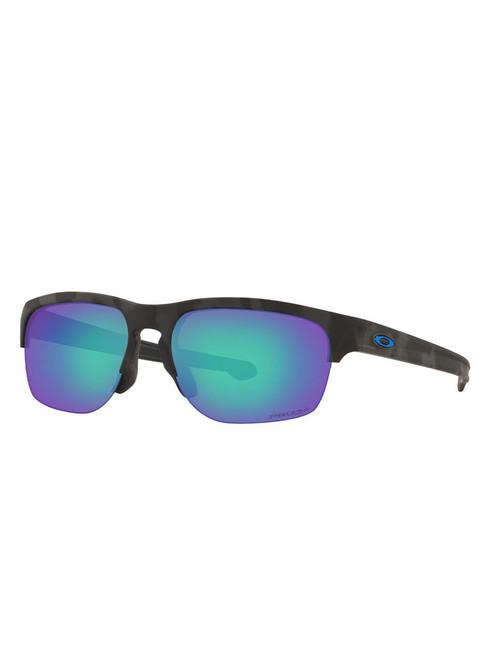 Oakley Sliver Edge (Asia Fit) Sunglasses - Matte Black Camo w/ Prizm Sapphire