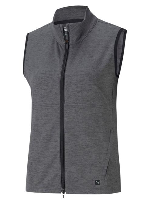 Puma W CLOUDSPUN Full Zip Vest - Puma Black Heather