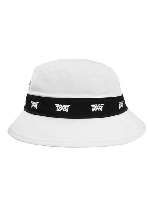 PXG Repeat Logo Bucket Hat - White