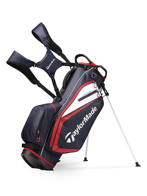 TaylorMade Select Stand Bag - Navy/Red/White