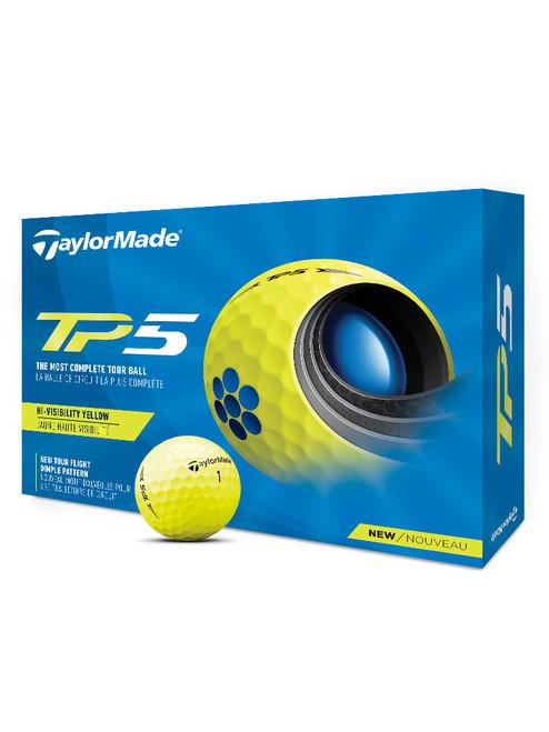 TaylorMade TP5 Golf Balls - 1 Dozen Yellow