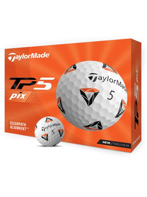 TaylorMade TP5 pix Golf Balls - 1 Dozen White