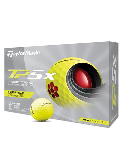 TaylorMade TP5x Golf Balls - 1 Dozen Yellow