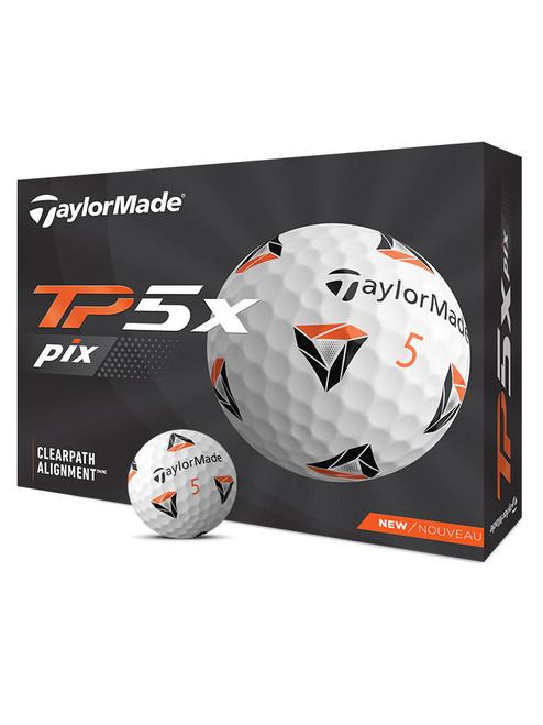 TaylorMade TP5x pix golf Balls - 1 Dozen White