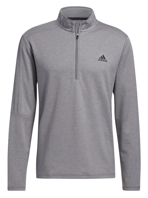 adidas 3-Stripes Quarter-Zip Pullover - Grey Three Mel