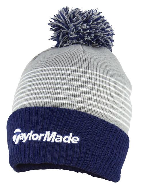 Taylormade Bobble Beanie - Navy/Grey/White